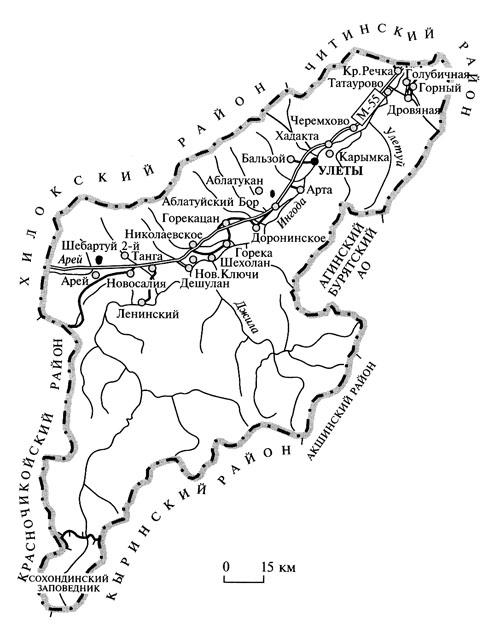 карта старых дорог поселений карымского района